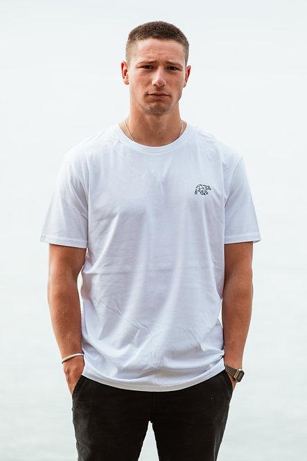 3 Tier T-Shirt - White // Black
