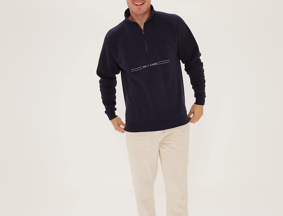 CREW QUARTER ZIP NAVY