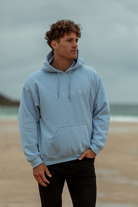 Classic Hoodie - Light Blue // White