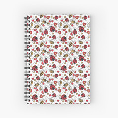 Bugs and Bees Spiral Notebook