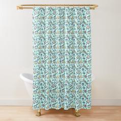 Bug Pattern Shower Curtain