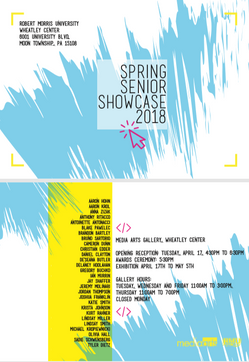 spring senior showcase 2018 postcard