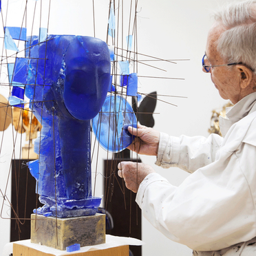 At work on a Sculpture