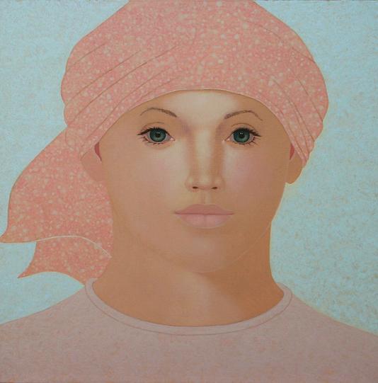 Rabbow-2704-Frau-mit-rosa-weissem-Kopftu