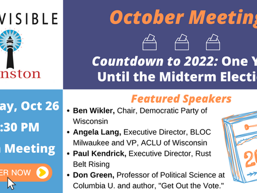 Register for our October Meeting: Countdown to 2022!