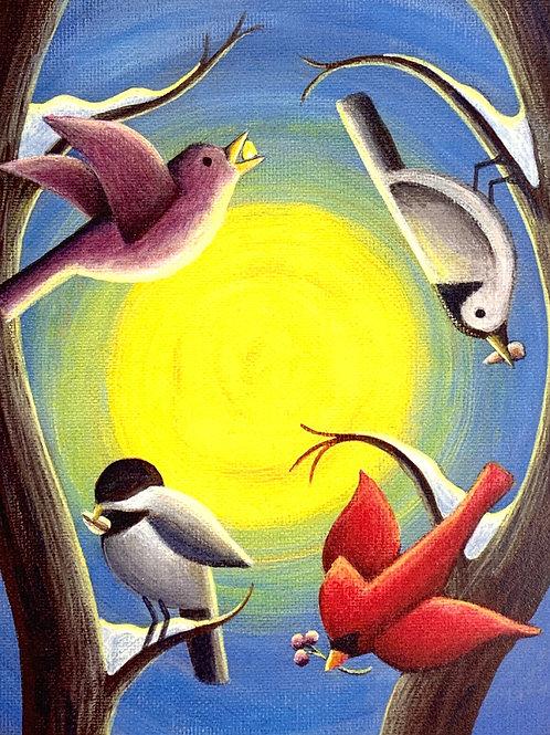 """Wisconsin Winter: Acrylic 6x8"""""""