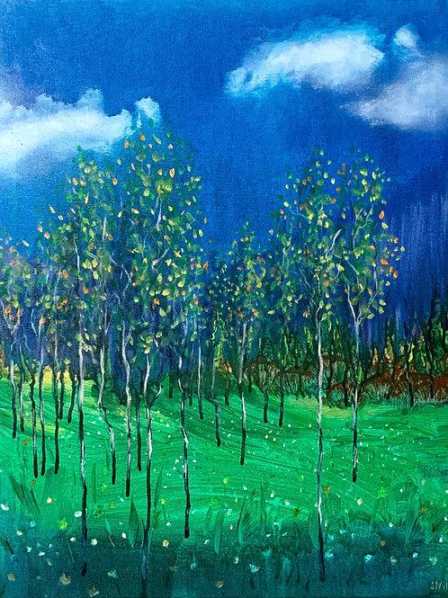 "Young Grove: Original Acrylic 24x30"""