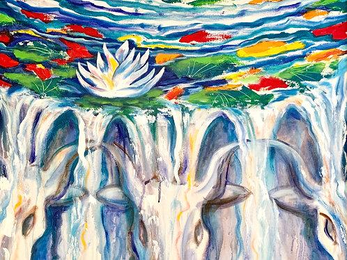 "The Basin Pool: Original Acrylic, 24x30"""