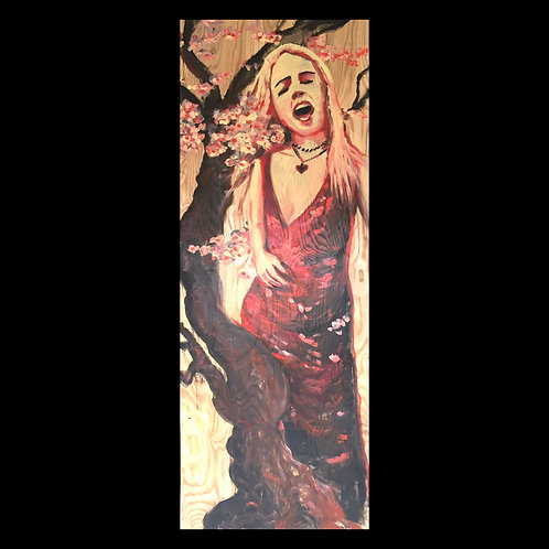 "Blossom: Acrylic on Wood 32x84"""