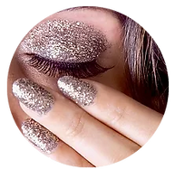 Glitter for nails and body art