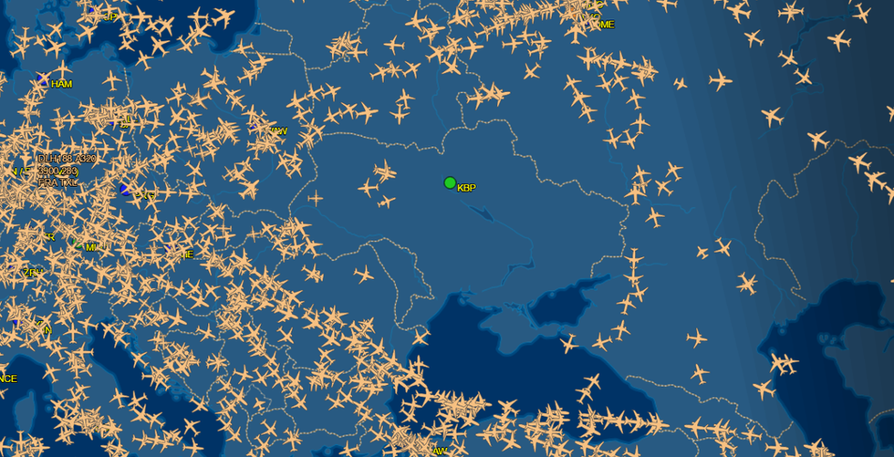 Ukrainian Overflights Plummet
