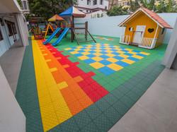 Piso Playground com amortecedores