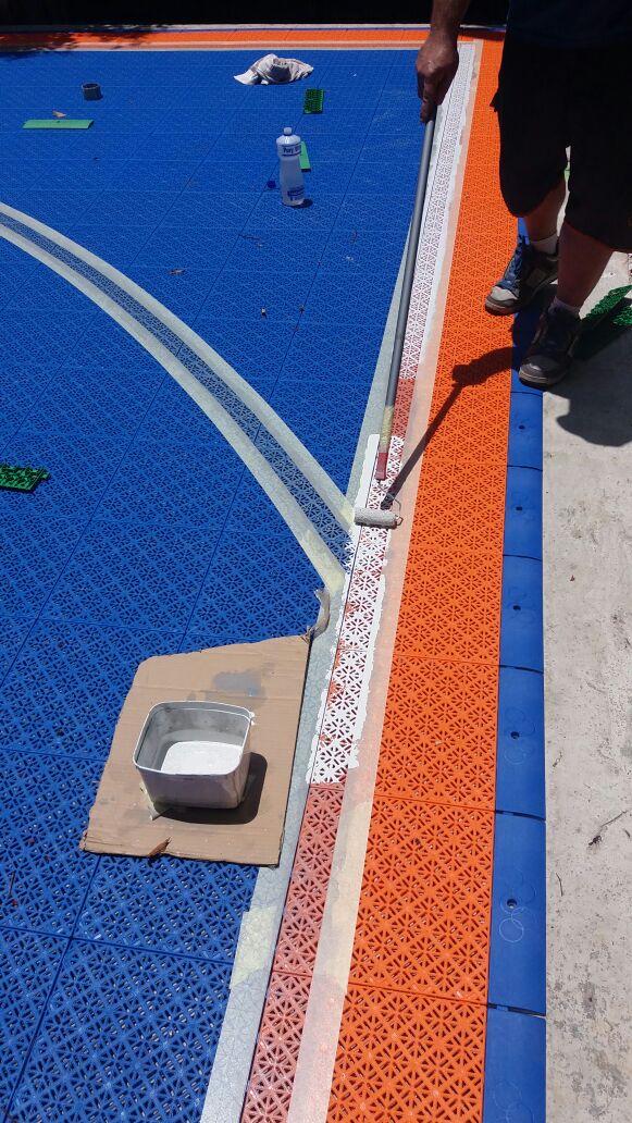 Pintura linhas esportivas