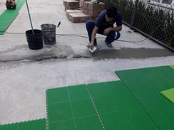 Motagem Piso Modular Outdoor