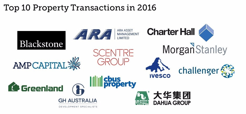 Top 10 Property Transactions in 2016