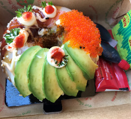 I had heard about the famous Sushi Donuts at Sydney Fish Market in Australia, so I had to see what it was all about...YUM!
