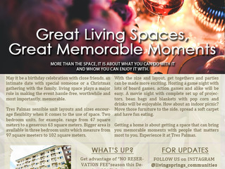 Great Living Spaces, Great Memorable Moments