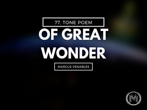 Of Great Wonder