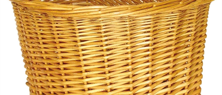 "Basket Wicker D Shape 14"" Full Wicker"