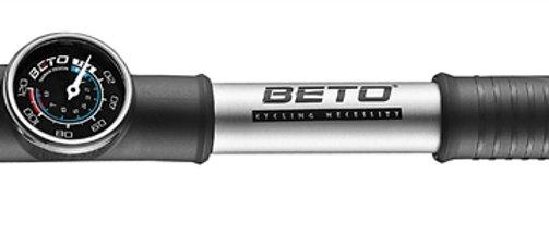 Pump Mini Beto 2-Way Alloy Dual Head With Gauge