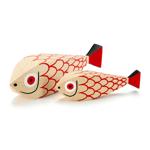 Wooden Dolls Mother Fish and Child by Vitra