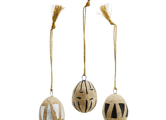 Papier Mache Eggs (Pack of 3)