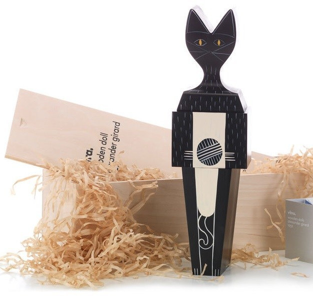 Wooden Doll Cat