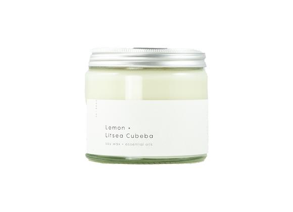 Candle Lemon + Litsea Cubeba (Essential Oil)