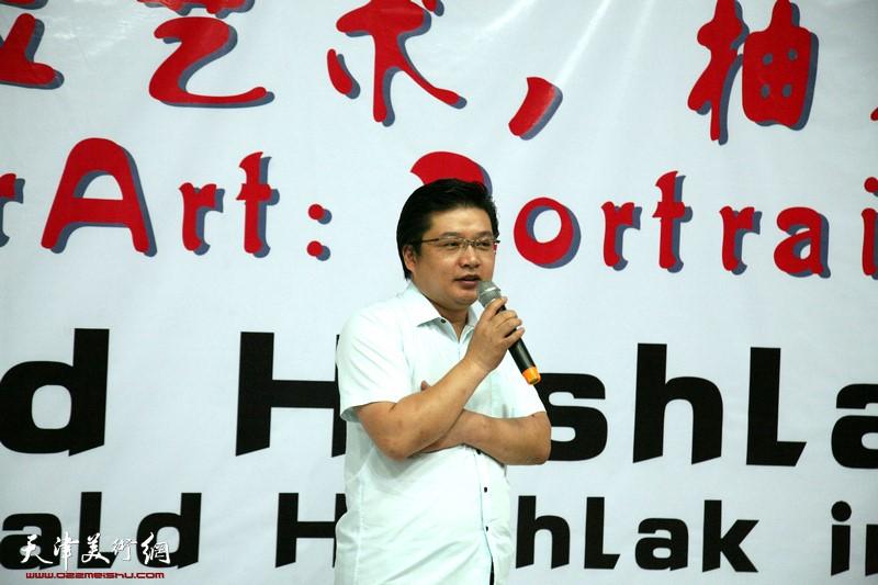 Tianjin Cultural and Creative Industry Assoc., Tianjin Youth Entreprenerus Assoc. Pres. Wang Cunguo