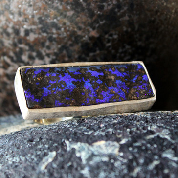 Boulder Opal Two-Finger Ring