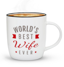 gifffted world best wife ever with coffe