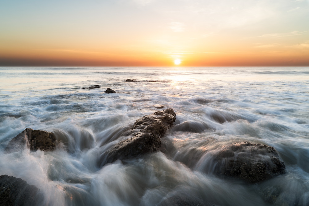 Sunrise over the Atlantic Ocean. Landscape Photography.