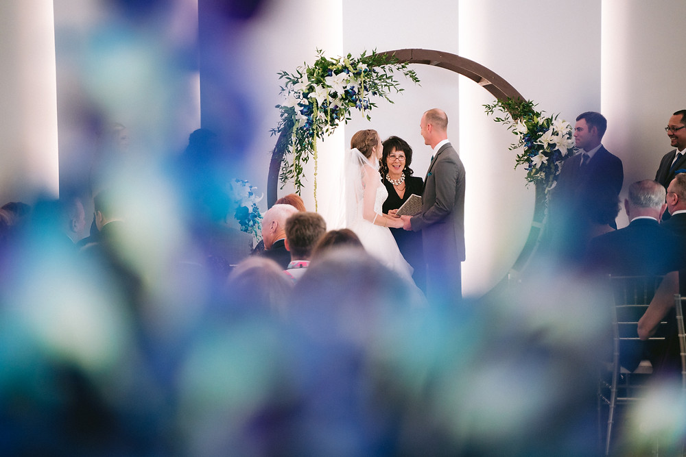 Indoor wedding ceremony. Clay Theatre.