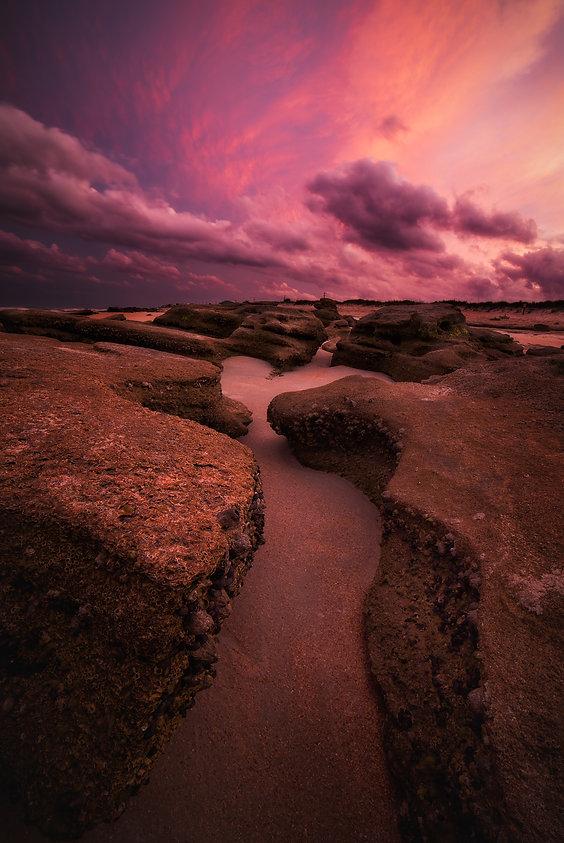 Pink sunset Marineland Florida