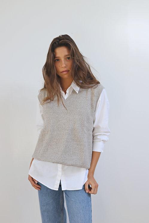 Grey Knit Vest