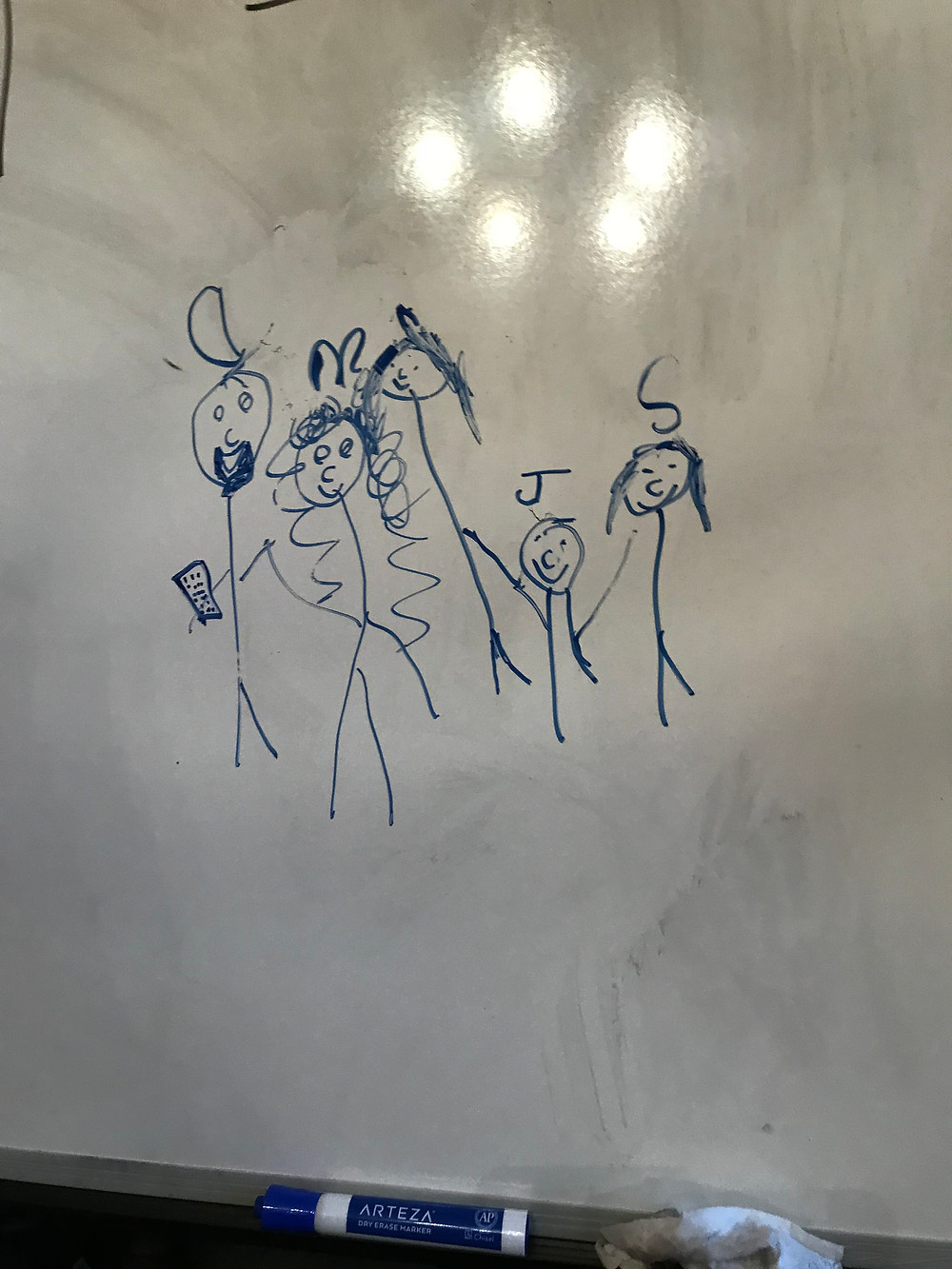Our Family Drawn By: Savannah Hodnett (8 years old)