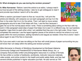 Kennamer Editing Tip Featured in Textbook Authors Association Blog