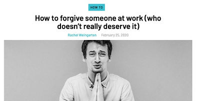 The Ladders - How To Forgive Someone At Work