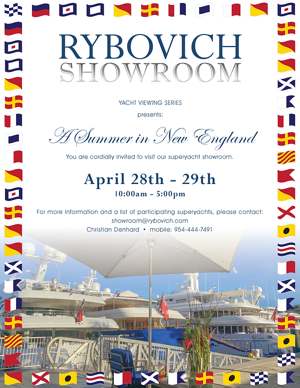 Rybovich Showroom - A Summer in New England