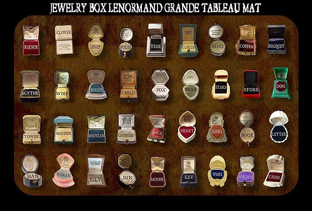 GRANDE TABLEAU MAT FOR JEWELRY BOX LENORMAND DECK