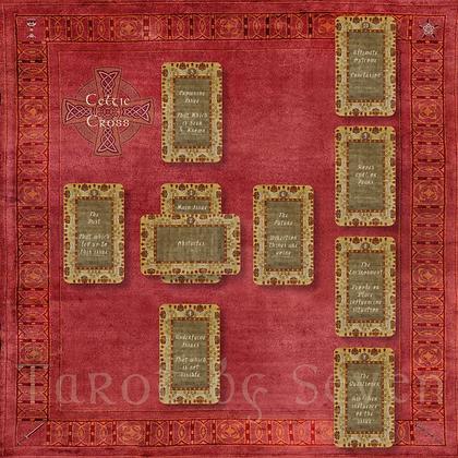 Celtic Cross Tarot Cloth, Pouch & Journal