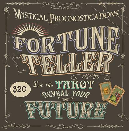 Tarot Reader Sign Cloth / Collection