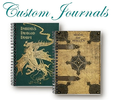 CUSTOM Journals - Spellbook,Tarot Journal, Grimoire, Diary, Book of Shadows