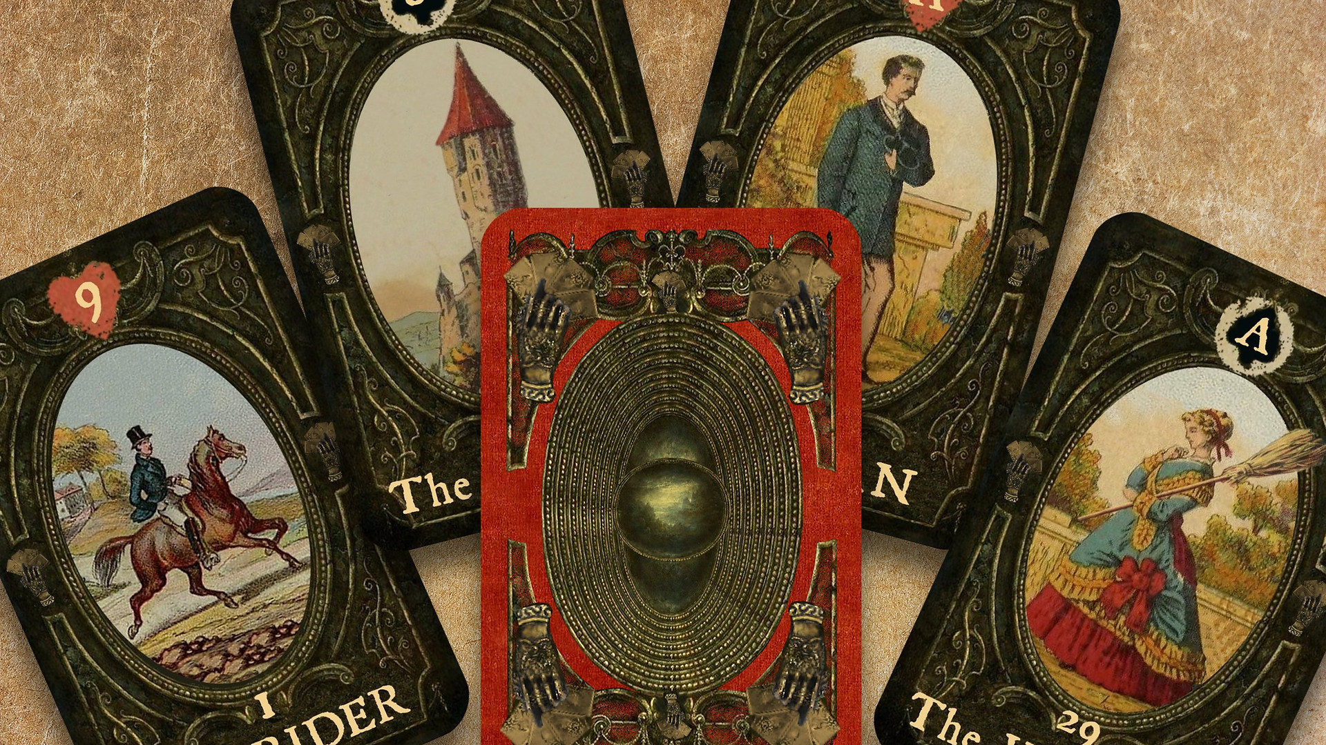 Tarot by Seven, Lenormand, Gold Hand, Le