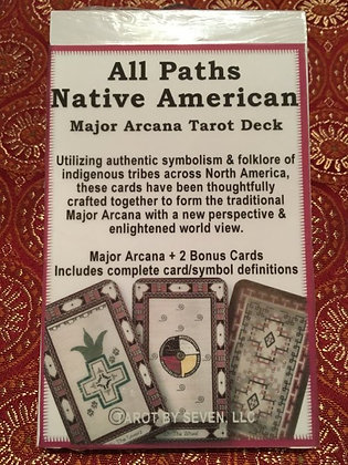 Large All Paths Native American Major Arcana Tarot - Unopened