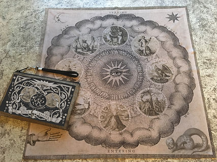 Bone Casting Cloth and Pouch by Tarot by Seven