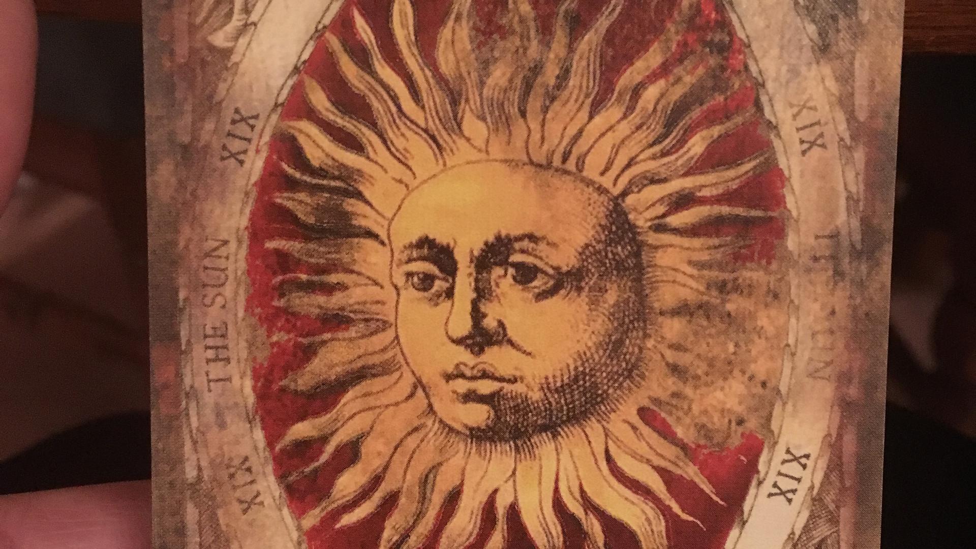 RED DECK, TAROT BY SEVEN, SUN, TAROT, DE