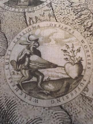 Tarot by Seven Bone Casting Cloth Detail