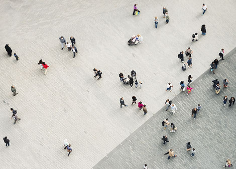 Pedestrians from an Ariel View