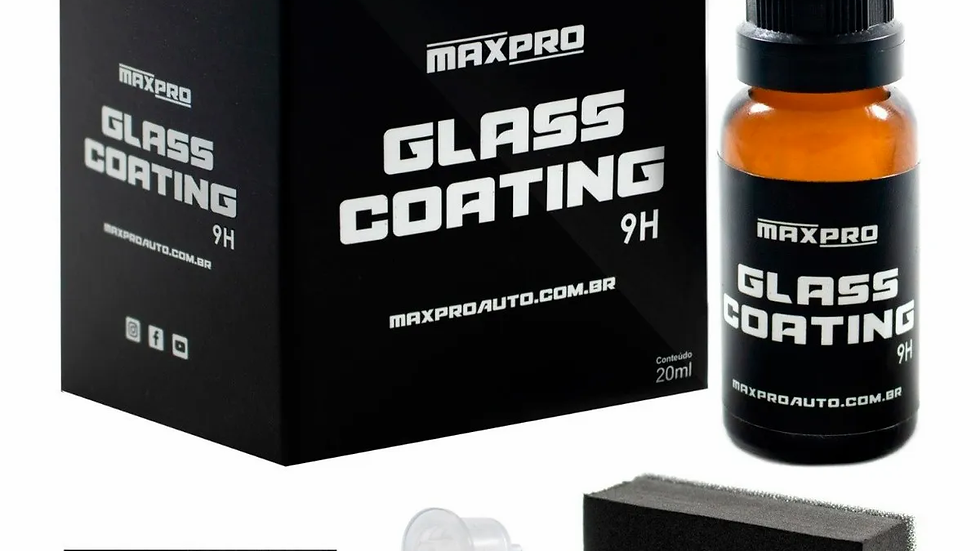 Vitrificador Glass Coating 9H 3 Anos 20ml - Maxpro